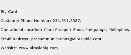 Big Card Phone Number Customer Service