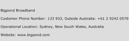 Bigpond Broadband Phone Number Customer Service