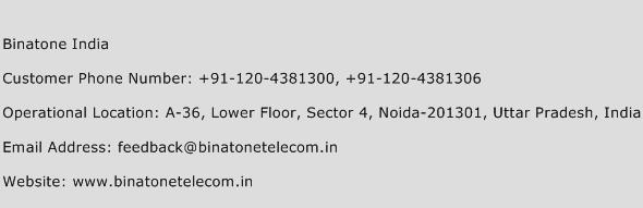 Binatone India Phone Number Customer Service