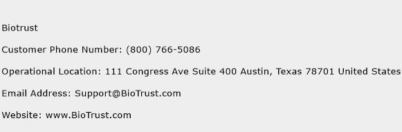 Biotrust Phone Number Customer Service