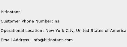 Bitinstant Phone Number Customer Service