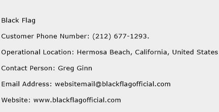 Black Flag Phone Number Customer Service
