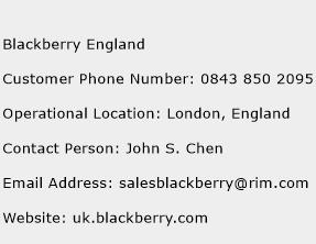 Blackberry England Phone Number Customer Service