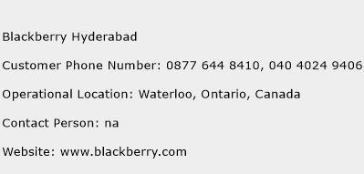 Blackberry Hyderabad Phone Number Customer Service
