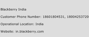 Blackberry India Phone Number Customer Service