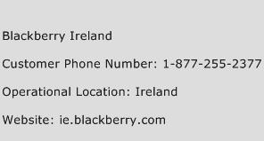 Blackberry Ireland Phone Number Customer Service