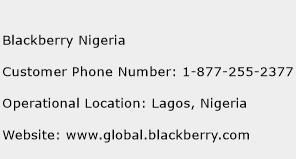 Blackberry Nigeria Phone Number Customer Service