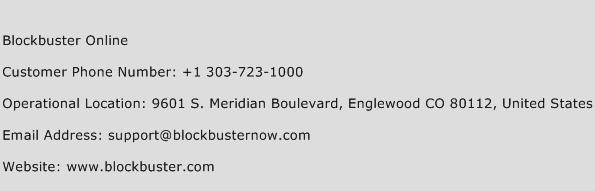 Blockbuster Online Phone Number Customer Service