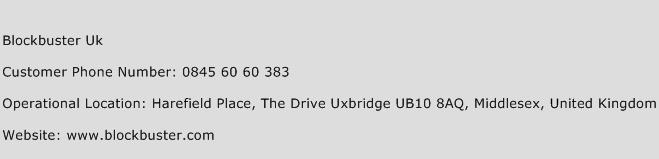 Blockbuster Uk Phone Number Customer Service