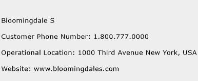 Bloomingdale S Phone Number Customer Service