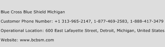 Blue Cross Blue Shield Michigan Phone Number Customer Service