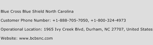 Blue Cross Blue Shield North Carolina Phone Number Customer Service