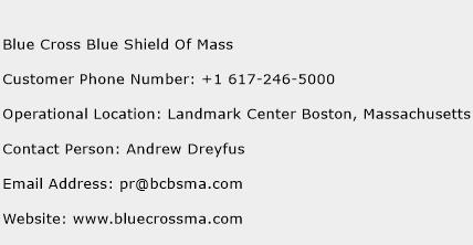 Blue Cross Blue Shield Of Mass Phone Number Customer Service