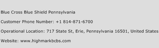 Blue Cross Blue Shield Pennsylvania Phone Number Customer Service