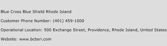 Blue Cross Blue Shield Rhode Island Phone Number Customer Service