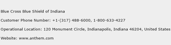 Blue Cross Blue Shield of Indiana Contact Number | Blue ...