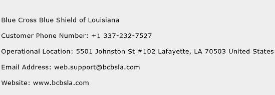 Blue Cross Blue Shield of Louisiana Phone Number Customer Service