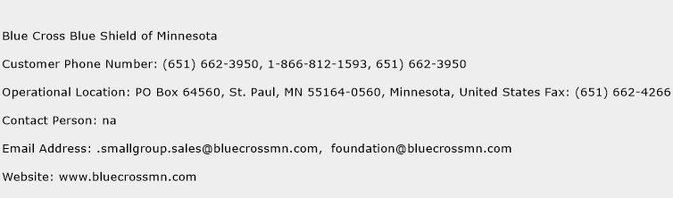 Blue Cross Blue Shield of Minnesota Phone Number Customer Service