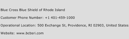 Blue Cross Blue Shield of Rhode Island Phone Number Customer Service