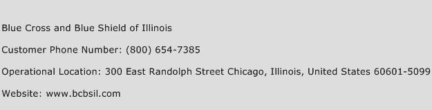 Blue Cross and Blue Shield of Illinois Contact Number ...