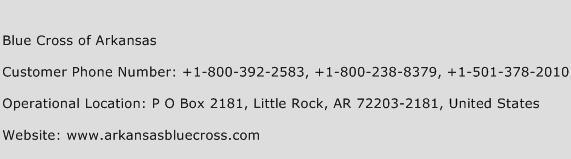 Blue Cross of Arkansas Phone Number Customer Service