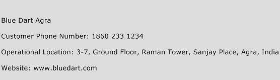 Blue Dart Agra Phone Number Customer Service