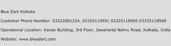 Blue Dart Kolkata Phone Number Customer Service