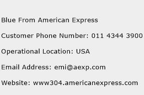 Blue From American Express Phone Number Customer Service