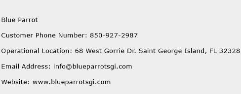 Blue Parrot Phone Number Customer Service