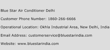 Blue Star Air Conditioner Delhi Phone Number Customer Service