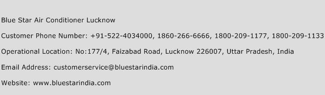 Blue Star Air Conditioner Lucknow Phone Number Customer Service
