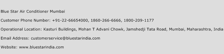 Blue Star Air Conditioner Mumbai Phone Number Customer Service