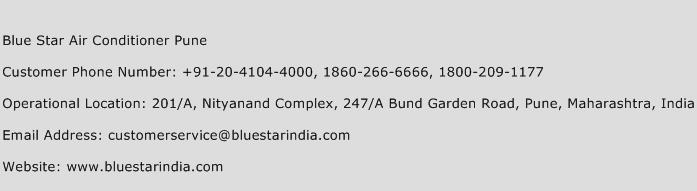 Blue Star Air Conditioner Pune Phone Number Customer Service