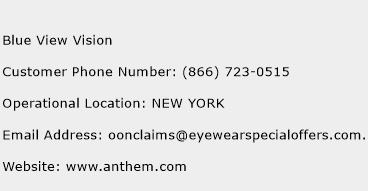 Blue View Vision Phone Number Customer Service