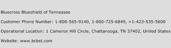 Bluecross Blueshield of Tennessee Phone Number Customer Service