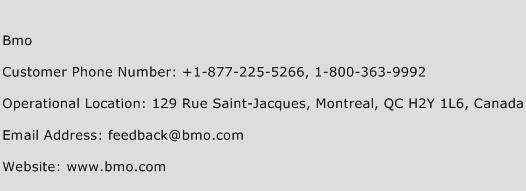 Bmo Phone Number Customer Service