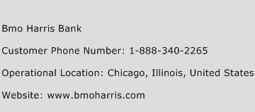 Bmo Harris Bank Phone Number Customer Service