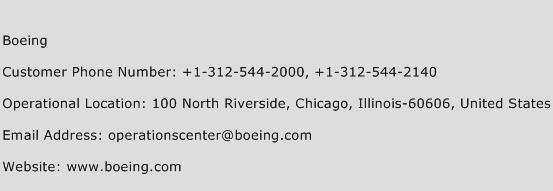 Boeing Phone Number Customer Service