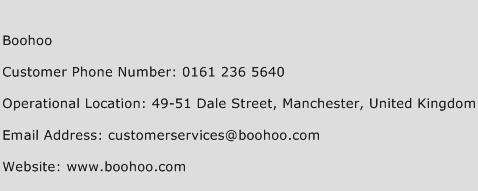 Boohoo Phone Number Customer Service