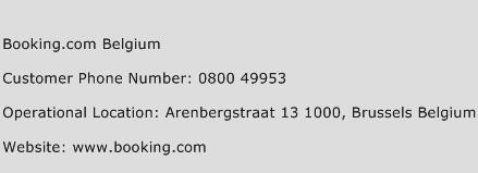 Booking.com Belgium Phone Number Customer Service