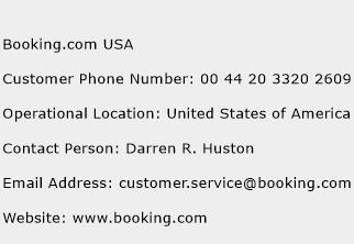 Booking.com USA Phone Number Customer Service