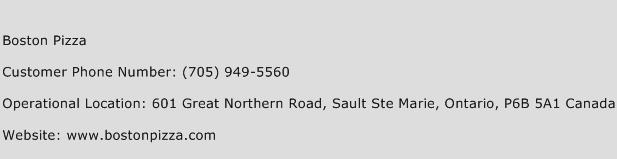 Boston Pizza Phone Number Customer Service