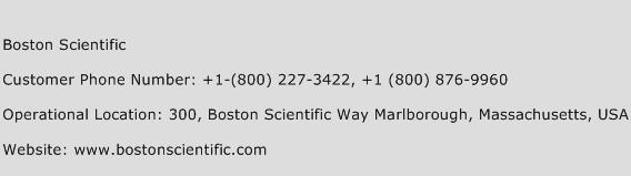 Boston Scientific Phone Number Customer Service