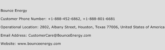 Bounce Energy Phone Number Customer Service