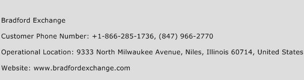 Bradford Exchange Phone Number Customer Service