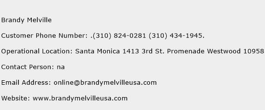 Brandy Melville Phone Number Customer Service