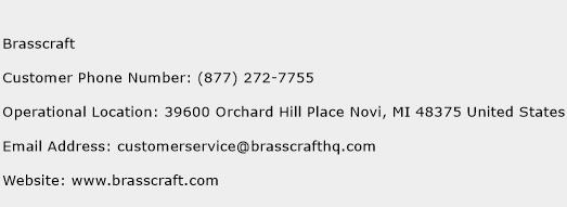 Brasscraft Phone Number Customer Service