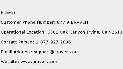 Braven Phone Number Customer Service