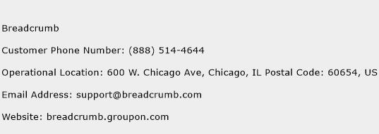 Breadcrumb Phone Number Customer Service