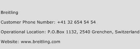 Breitling Phone Number Customer Service
